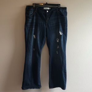 Torrid Bootcut Distressed Jeans Size 20R